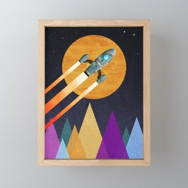 Rocket  2nd Star to the right  LLAP Framed Mini Art Print
