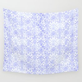Periwinkle Damask Wall Tapestry