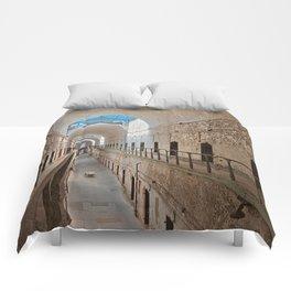 Abandoned Prison Corridor Comforters
