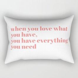 when you love Rectangular Pillow