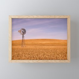 Ripening Cereal Rural Landscape in Australia Framed Mini Art Print