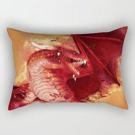 Red Dragon Rectangular Pillow