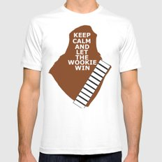 let the wookie win Mens Fitted Tee White MEDIUM