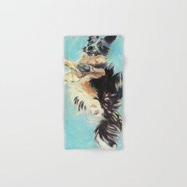 Let's Fly Border Collie Dog Portrait Hand & Bath Towel
