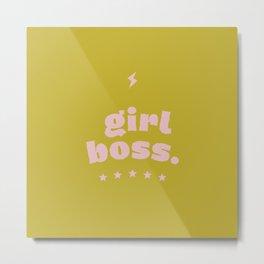 girlboss Metal Print