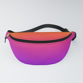 Colorful Gradient Pattern Neon Abstract Rainbow Fanny Pack