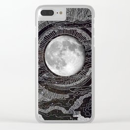 Moon Glow Clear iPhone Case