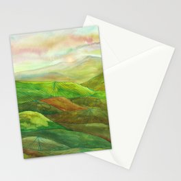 Lines in the mountains XVI Stationery Cards