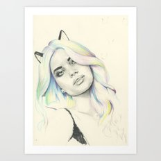 Concept Kitty Art Print