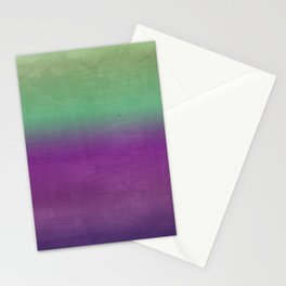 Plum Purple and Green Watercolor Abstract Stationery Cards