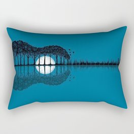 Trees sea and the moon turned guitar Rectangular Pillow