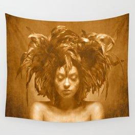 Bird girl Wall Tapestry
