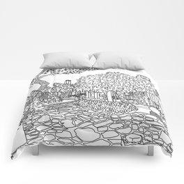 Snapshot in Collioure, France Comforters