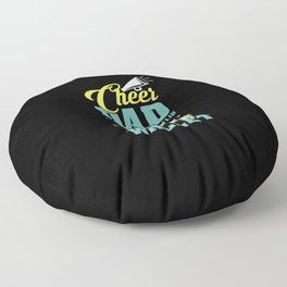 Cheer Dad Cheerleading The Only Thing I Flip Floor Pillow