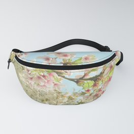 Pink on White Fanny Pack