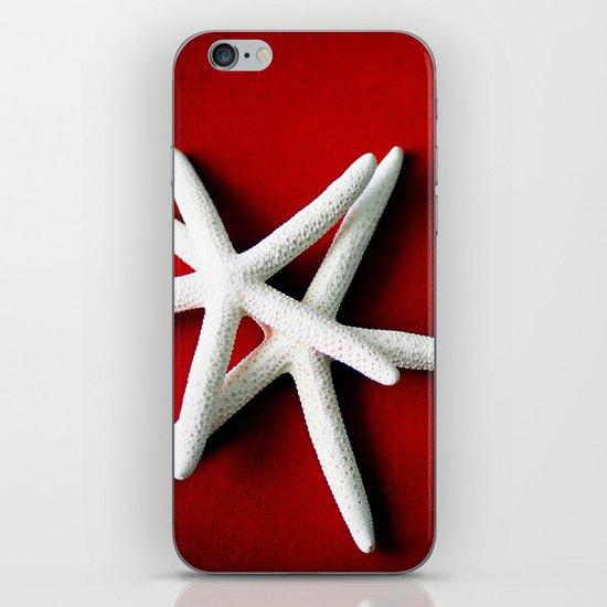 Star Fish on Red iPhone & iPod Skin