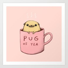 Pug of Tea Art Print