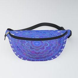 Blue Floral Mandala Fanny Pack