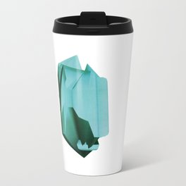 3D turquoise flying object  Travel Mug