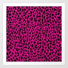 Neon Pink Leopard Art Print