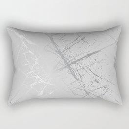 Silver Splatter 089 Rectangular Pillow