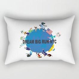 Dream big fun NYC fashionista cats Rectangular Pillow
