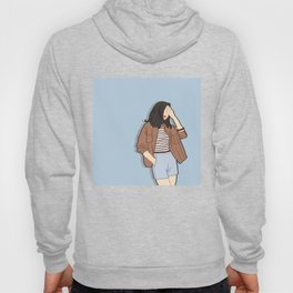 Feeling Blue - OOTD - Fashion Style Art Hoody