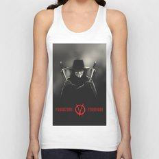 V for Vendetta (e2) Unisex Tank Top