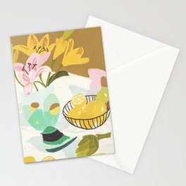 Lemons and Lilies Stationery Cards