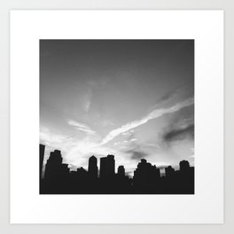 BLACK CITY SKY Art Print