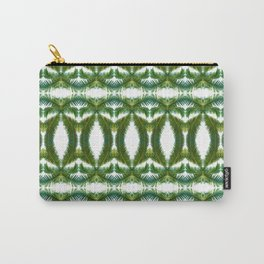 Palm Leaf Kaleidoscope (on white) #2 Carry-All Pouch