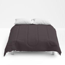 Solid Dark Charcoal Grey Color Comforters