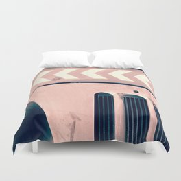 Road Roller Chevron - Industrial Abstract (everyday 17.01.2017) Duvet Cover