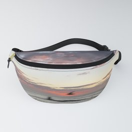 Birds flying by at Bronte Beach, NSW, Australia Fanny Pack