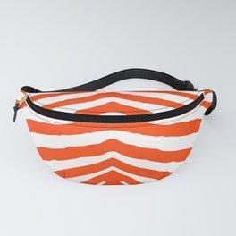Fluorescent Orange Neon and White Zebra Stripe Fanny Pack