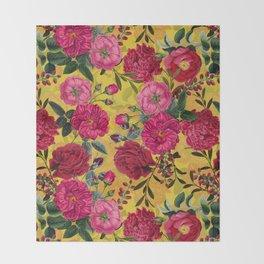 Vintage & Shabby Chic - Summer Tropical Garden Throw Blanket