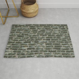 Ruined brick wall Rug