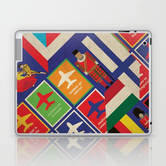 EU Travel Poster Laptop & iPad Skin