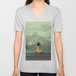 Glacier Spaceman Unisex V-Neck