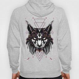 Lynx Cat sacred geometry Hoody