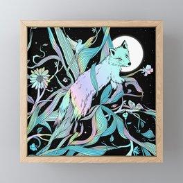 Wild Emergence (Warm Freeze) Framed Mini Art Print