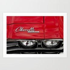 1969 Red Chevrolet Chevelle Car Art Print