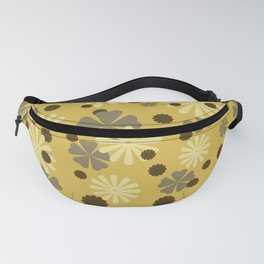 Brown yellow Flower pattern design Fanny Pack