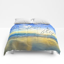 Life's a beach, then you fly! Comforters