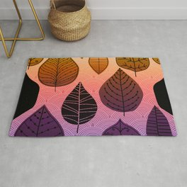 Bright Leaf Design Rug