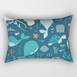 Sea creatures 004 Rectangular Pillow