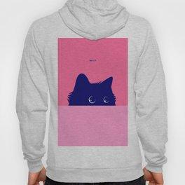 Cat on Deep Pink Hoody