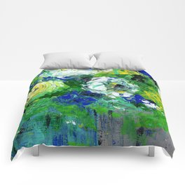 Abstract Floral - Botanical Comforters