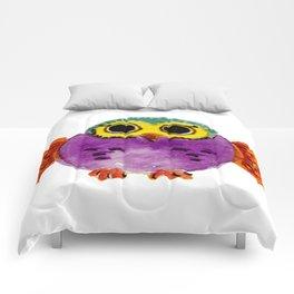 Chouette colorée Comforters