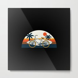 Surf Bike Metal Print